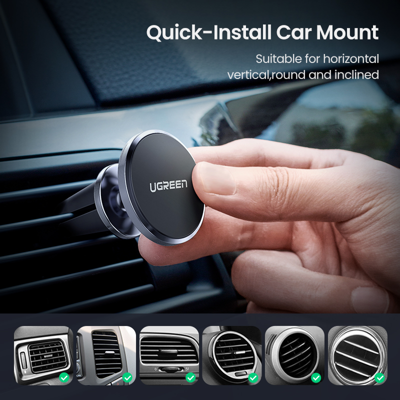 Image 5 - Ugreen Car Magnetic Phone Holder Cell Phone Mount Holder Stand In Car Smartphone Support Magnet for iPhone X Mobile Stand Holder-in Phone Holders & Stands from Cellphones & Telecommunications