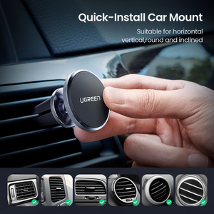 Image 5 - Ugreen Car Magnetic Phone Holder Cell Phone Mount Holder Stand In Car Smartphone Support Magnet for iPhone X Mobile Stand Holder