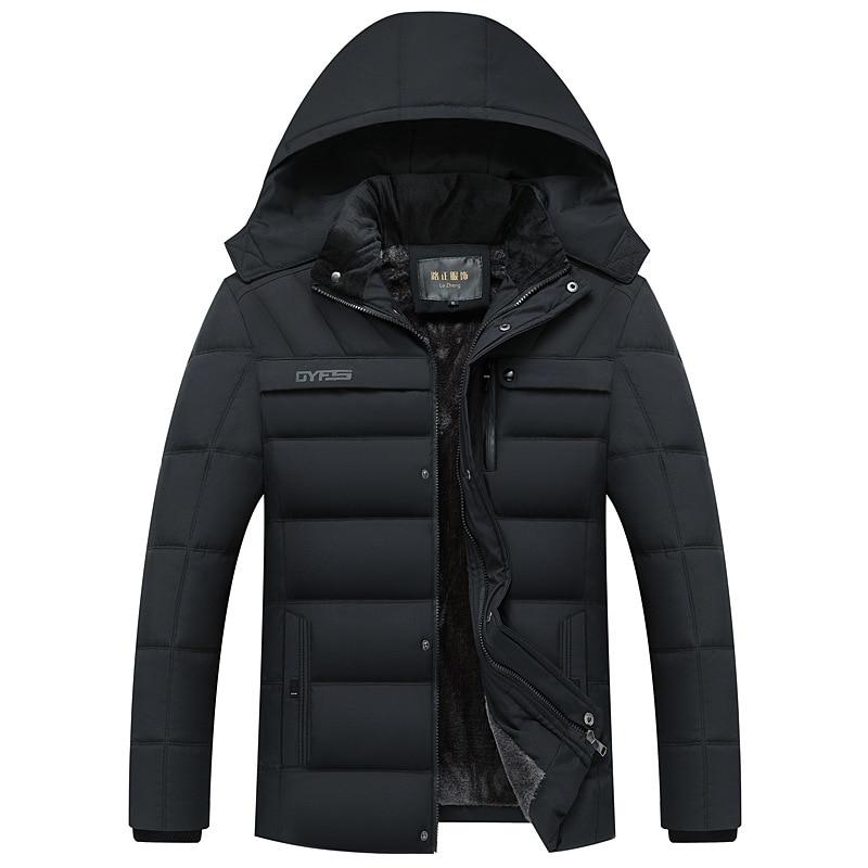 Image 5 - FAVOCENT Winter Jacket Men Thicken Warm Men Parkas Hooded Coat  Fleece Mans Jackets Outwear Windproof Parka Jaqueta MasculinaParkas