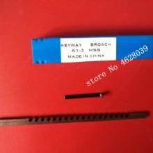 HSS шпоночный протяжки с прокладкой высокоскоростные стальные протяжные инструменты 3 мм нажимной шпоночный протяжки метрический размер режущего станка инструмент