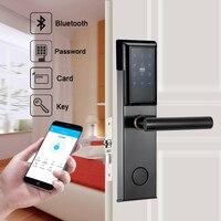Security Bluetooth Door Lock WIFI Door Lock Digital Smart Door Lock For Home With Password & RFID Card Unlocked