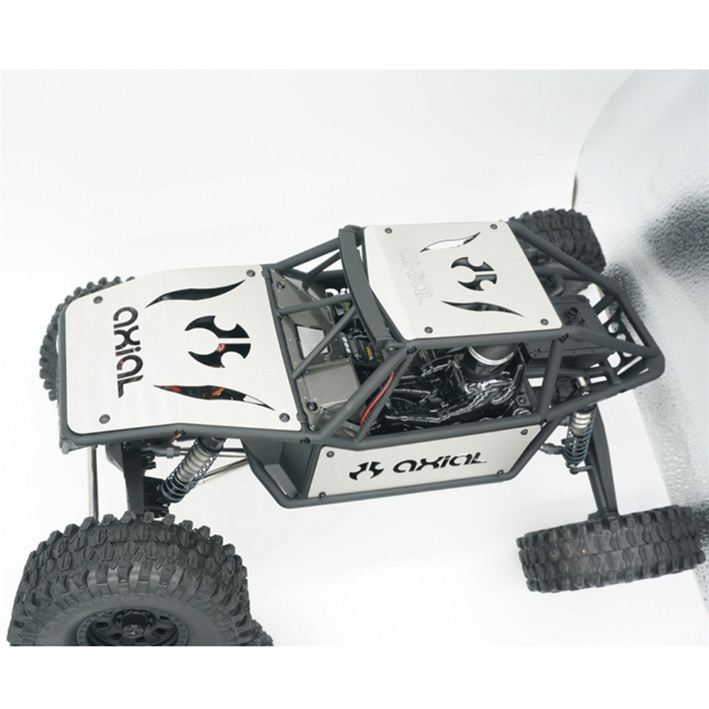  Car Body Armor Plate Guard Stainless Steel Bottom Chassis Guard for Axial Capra 1.9 UTB AXI03004