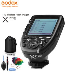 Godox Xpro-C 32 Channels 2.4G TTL Wireless Flash Trigger 1/8000s HSS X system with LCD Screen Transmitter For Canon DSLR Camera