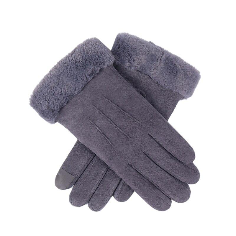 Fashion Women Winter Warm Gloves Touchscreen Winter Outdoor Sport Furry Warm Gloves Full Finger Female Gloves New