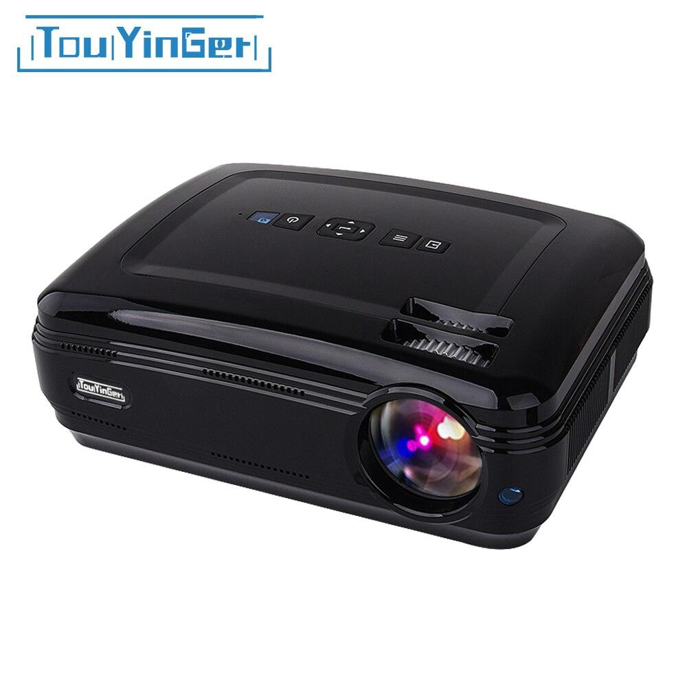 Touyinger t3 led mostrar dados projetor beamer (android bluetooth wifi opcional) atv cinema em casa suporte 1080 p vídeo hd completo