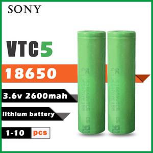 1-10PCS Sony 100% Original 3.6v 18650 VTC5 2600mah Lithium Rechargeable Battery US18650VTC5 30A Discharge for Flashlight Toys