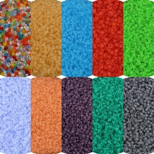 Glass Beads Frost-Spacer-Beads Charms Jewelry Making Transparent-Seed Matte-Plated 2mm