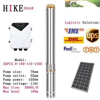 цена на Hike solar equipment 3 inch solar water pump with plastic impeller Max flow 3800L/H Max head 180m model: 3DPC3.8-180-110-1500
