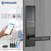 Fechadura eletrônica da porta da segurança  app wifi smart touch screen lock  deadbolt do teclado do código digital para o apartamento do hotel em casa