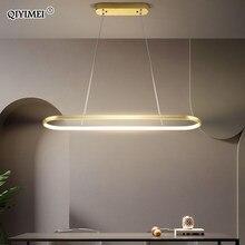 Прямоугольные современные светодиодные подвесные лампы для гостиной ресторана спальни декоративный подвесной светильник Lamparas AC85-260V пульт...