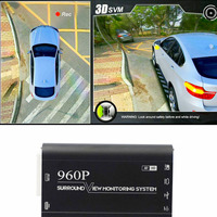 360 3D HD Car Surroundview Monitoring System Bird View System 4 Camera DVR Dash Camera HD 1080P Recorder Parking Monitoring