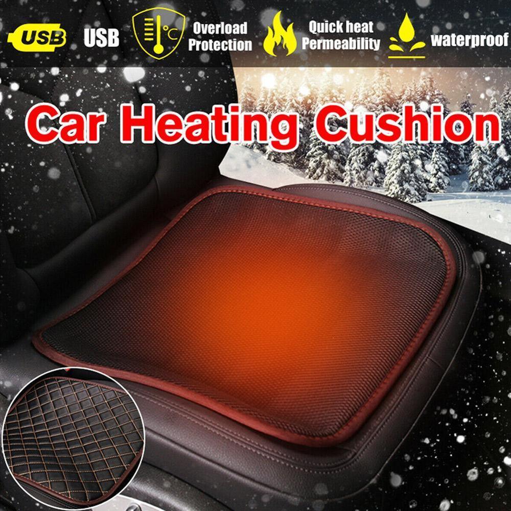 Almofada quente aquecida antiderrapante da cadeira para o escritório em casa das fontes do automóvel almofada aquecida do assento do carro, aquecedor 12v/24v da cadeira de usb