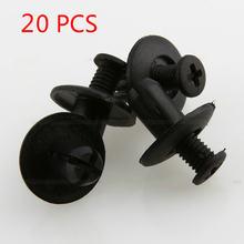 Черный 8 мм автомобильное отверстие пластиковые Заклепки Крепеж