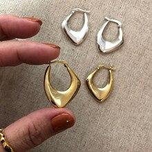 Silvology 925 Sterling Silver Irregular Big Earrings for Women Nordic Style Minimalist Earrings Party Luxury Jewelry Designers