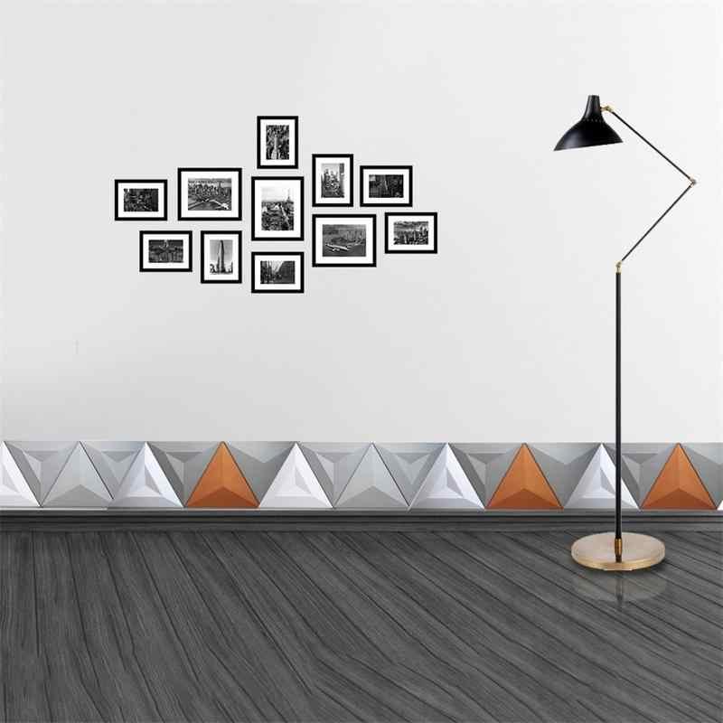 ซิลิโคน Geometric Wall ผนังคอนกรีตแม่พิมพ์ TV ตกแต่งพื้นหลังกำแพงอิฐแม่พิมพ์รูปแบบกระเบื้องหินหัตถกรรมแม่พิมพ์ซิลิโคน