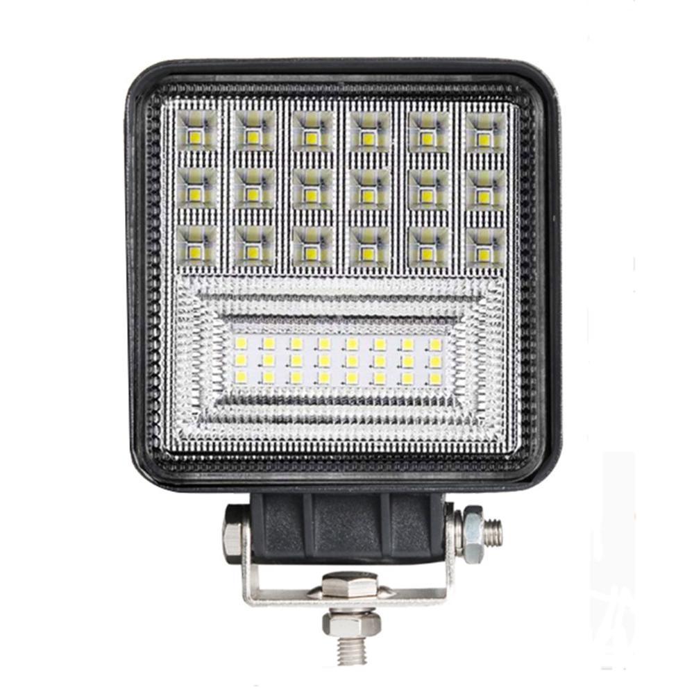 Mini Car Led Work Light 126W Square Led Off-road Vehicle Truck Lights Spotlight Led Light Bar 6000K White Light Bright Durable