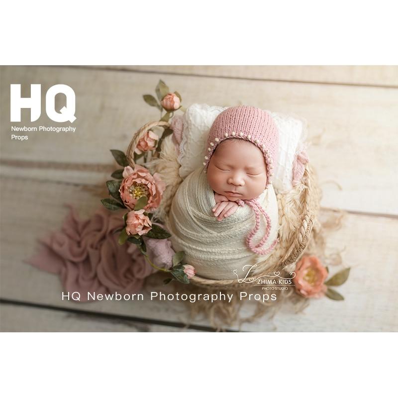 Newborn Photo Shooting Basket Children Baby Full Moon Photography Woven Baskets Newborn Photography Rattan BasketHot
