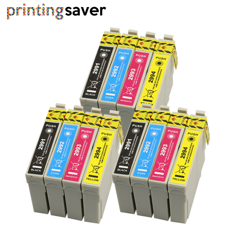 12Pcs 29 29XL T2991 - T2994 ink Cartridges For XP235 XP247 XP245 XP332 XP335 XP342 <font><b>XP345</b></font> XP435 XP432 XP442 XP445 Printer image