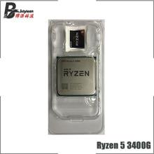 AMD Ryzen 5 3400 グラム R5 3400 グラム 3.7 クアッドコア 8 スレッド 65 ワットの CPU プロセッサ l3 = 4 メートル YD3400C5M4MFH ソケット AM4 新ないファン