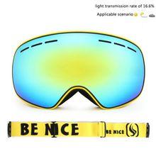 Лыжные очки двухслойные uv400 Анти туман сноуборд для спорта