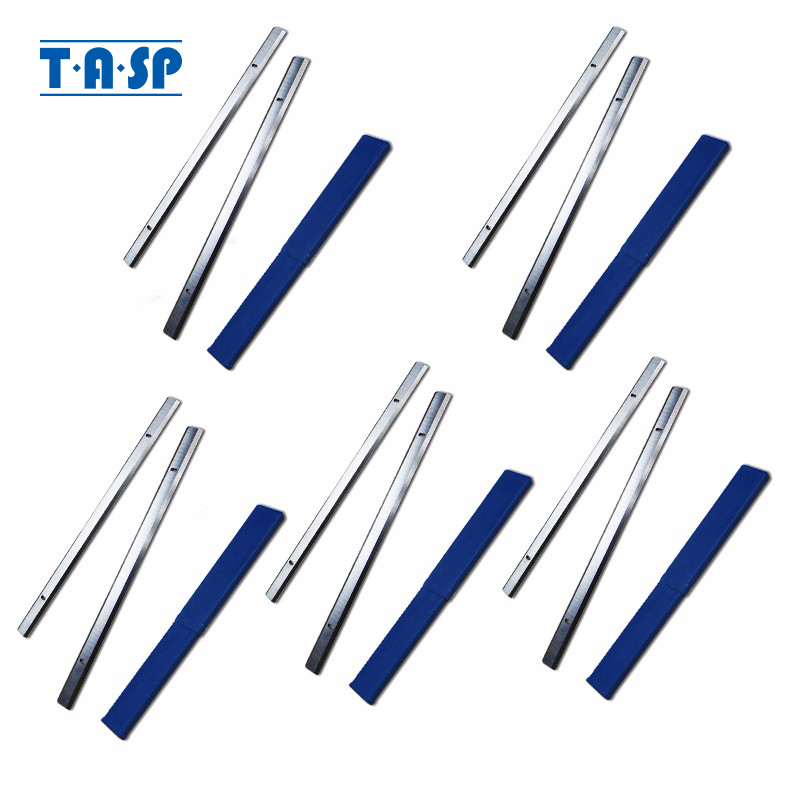 TASP 5 Pairs 319mm HSS Thickness Planer Blade 319x18.2x3.2mm Wood Planer Knife For Ryobi