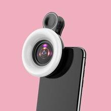 Universal Mobile Phone Fill Light 15X Macro Lens Phone Selfie Lamp Ring Clip Light Portable Selfie LED Ring Flash Light