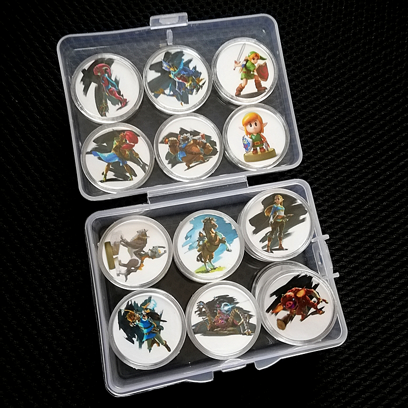 24Pcs <font><b>Zelda</b></font> Collection Coin The Legend Of <font><b>Amiibo</b></font> <font><b>Card</b></font> Full Set Inclue Link's Awakening Young Link New Data Setting Fast Shipping image
