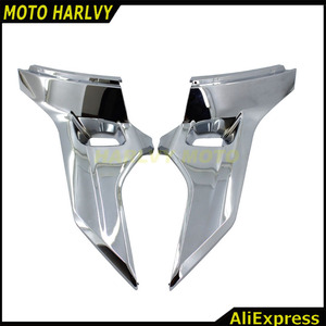 Chrome Motorcycle Side Cover Fairing Protectors Moto Frame Decoration case for Honda Goldwing GL1800 2012 2013 2014 2015