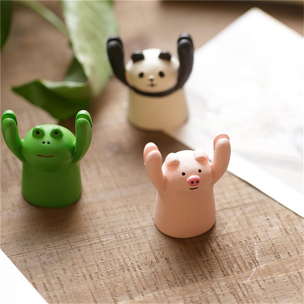 Милый мультяшный держатель для карт Pig Panda Cat Frog, милый держатель для карт с изображением героев мультфильмов, милая подставка для фотографий, украшение для торта, держатель для карт, Настольный Органайзер
