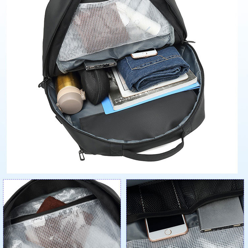 Image 5 - Travel Large Capacity  Expand Men Backpack Fit 17 inch Laptop  Multi layer Space Travel Male Bag Anti thief MochilaBackpacks   -