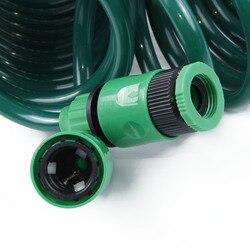15m ogrodowa elastyczna spiralna myjnia samochodowa do oczyszczania wody wąż z dyszą natryskową na
