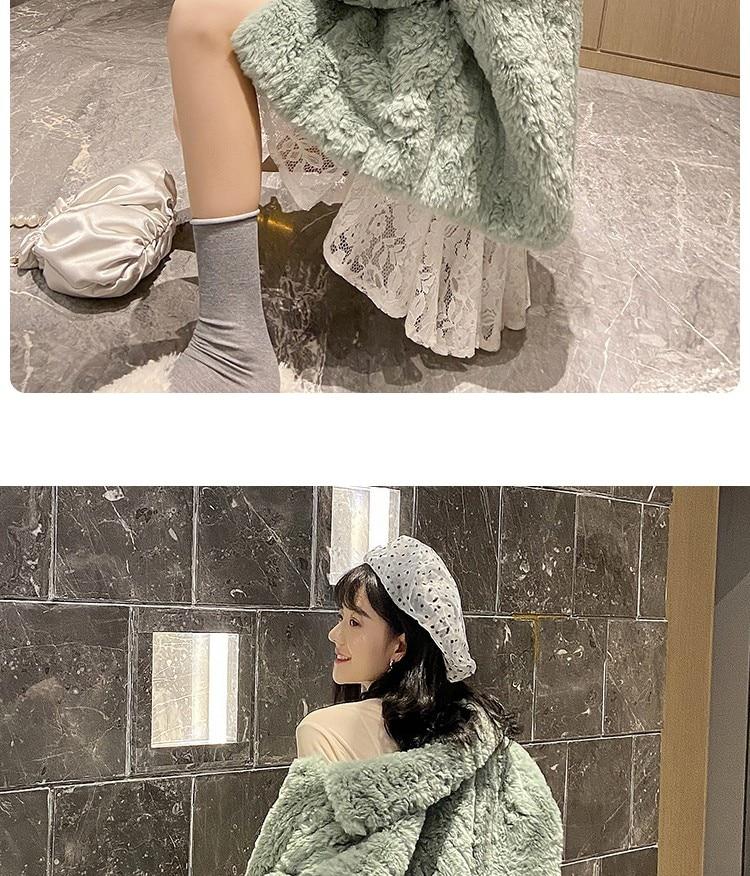 Hf1964691e917497bbef58d8afde7cc77n Plush jacket women winter short 2021 new Korean version of loose lamb wool faux fur leopard print fur coat women winter