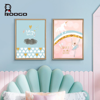 Roogo Canvas Painting By Numbers Cute Ballet Girl Decorative Prints Wall Painting Creative Wall Art Nordic For living Room