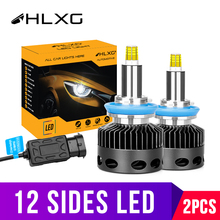 3D lamba D2S D1S D3S D4S 30000LM CSP H11 H7 Led 360 araba farlar ampuller H8 H1 HB3 HB4 9005 9006 araba sis farları otomatik 12v D2H hlxg