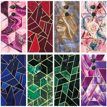 Geometric Marble Soft Phone Case for Sony Xperia XA2 H4133 H4113 H3113 H3123 H3133 Funda Glossy Silicone Phone Back Cover Shell