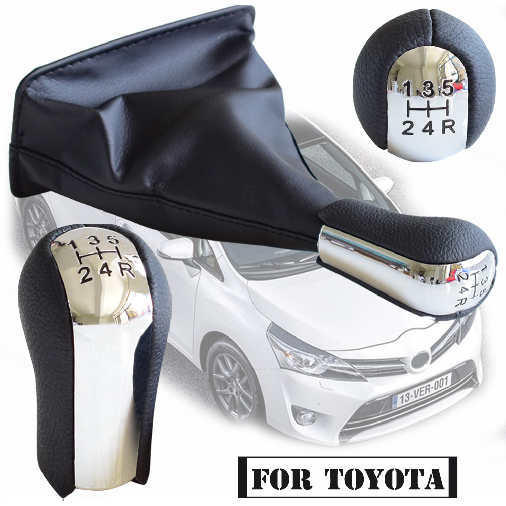 Car Gear Shift Knob HandBall With High quality Dust-proof Cover For <font><b>Toyota</b></font> <font><b>Corolla</b></font> AYGO Verso RAV4 YARIS VITZ 1992-2014 image