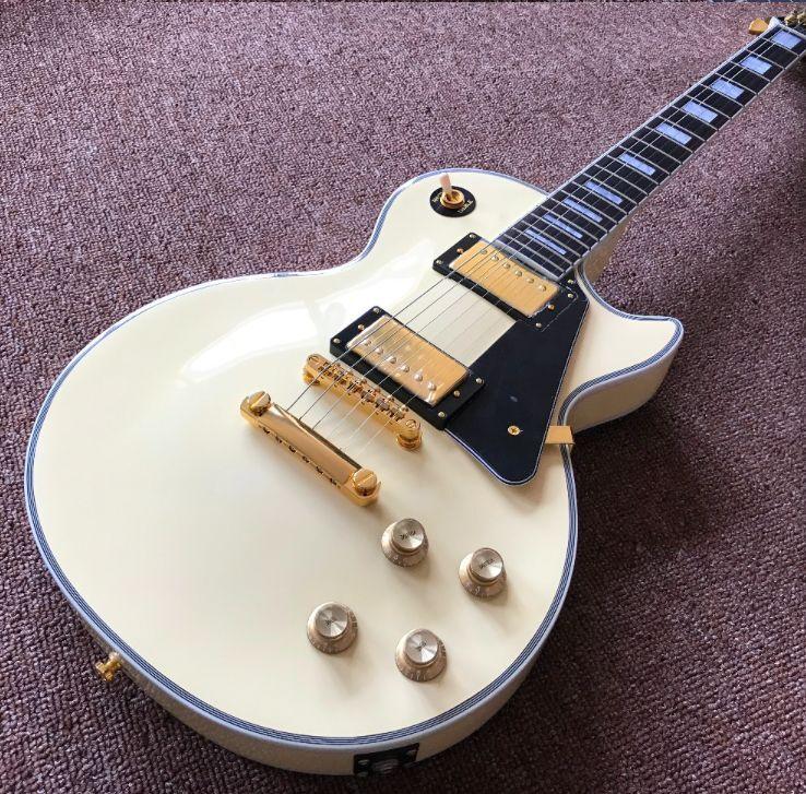 Custom  60   cream color electric guitar,black  pickguard with Gold color hardware gitaar,custom guitarra249
