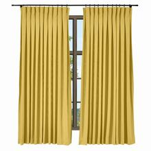 Inverted Pleated Box Cotton Linen Curtain Window Drapery For Rod with Rings Track ChadMade Isabella 35 Colors (1 Panel) Custom