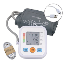 Upper Arm Tonometer Blood Pressure Monitor Medical Equipment Home Apparatus for Measuring Pressure White Health Monitor