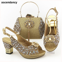 Bag-Set Wedding-Pumps Party-Shoes High-Heels Italian-Design Ladies And To Match