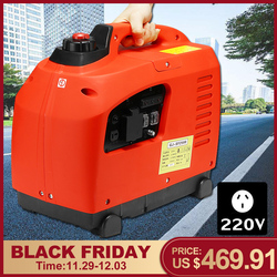 3500W Portable Gasoline Inverter Generator 3.5KW Petrol DC Battery Charge Pure Sine Waves Outdoor Powers Supply Energy Storage