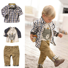 Toddler Kids Baby Girls Boys Cartoon Long Sleeve Tops +Pants