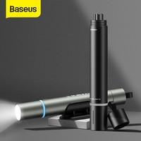 Baseus Auto Fenster Breaker Taschenlampe Notfall Sicherheit Hammer Mini Auto Glas Breaker Leben Saving Flucht Werkzeug Auto Notfall Kit