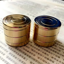 1 Pc Mini Desktop Toy Reduced Pressure Gyro Fingertip Present Hypnosis Rotary Adult Kid Gift Gold