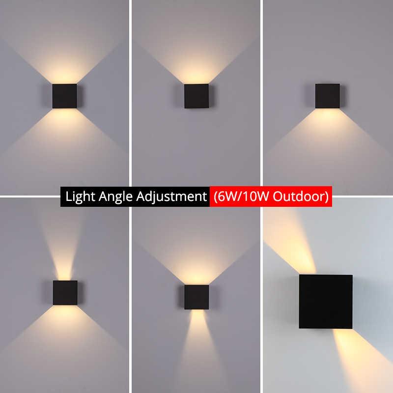 6W/10W Led Wandlamp Buiten Waterdichte IP65 Veranda Tuin Wandlamp & Indoor Slaapkamer Nachtkastje Decoratie verlichting Lamp Aluminium