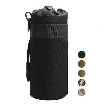 Tactical Water Bottle Pouch Military Molle System Kettle Bag Camping Hiking Travel Survival Kits Holder camping sports water bag new outdoor tactical military molle system bottle bag kettle pouch holder