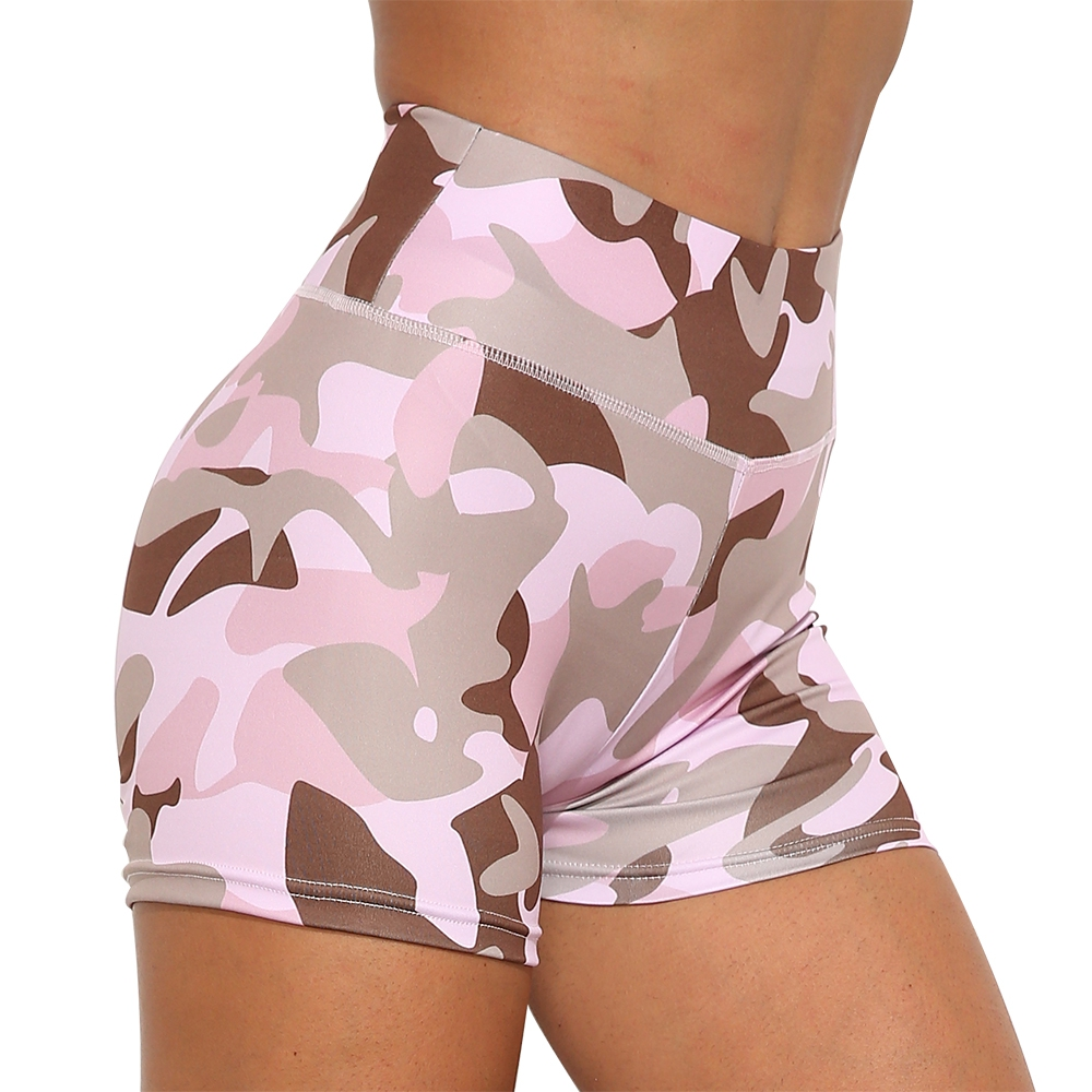 Athletic Camouflage Print Biker Shorts Scrunch Bum Camo Yoga Short Women Running Tights Sports Ruched Capris Fitness Hot Clothes