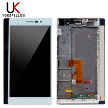 LCD Touch Screen For Huawei P7 LCD Display Touch Digitizer Screen Assembly For Huawei Ascend P7 P7-L00 P7-L05 P7-L10 Free Tools цена и фото