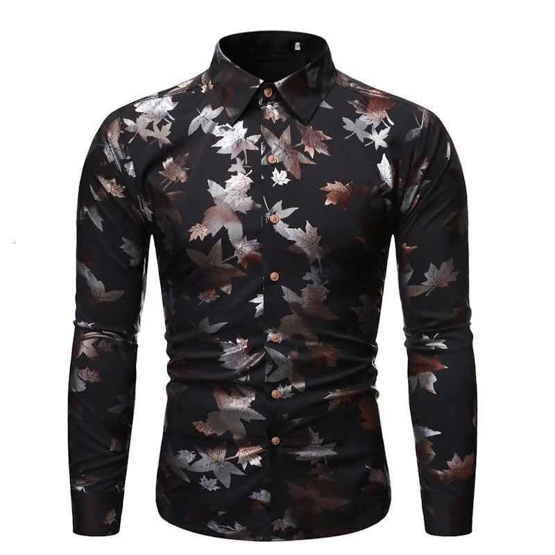 Casual Silk Printed Button - Down Shirt