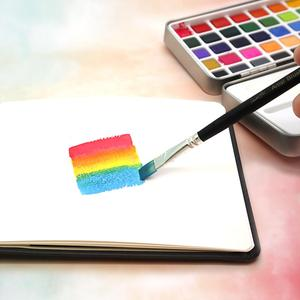 Image 5 - SeamiArt 50 צבע מוצק צבע בצבעי מים סט נייד מתכת תיבת צבעי מים פיגמנט למתחילים ציור בצבעי מים נייר ספקי